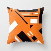 broadway Throw Pillows featuring 7av. Broadway by Michal Gorelick