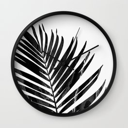 Palm leaf, Print, Scandinavian, Modern, Wall Art, Tropical Wall Clock