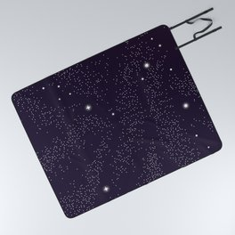 Universe with planets and stars seamless pattern, cosmos starry night sky 005 Picnic Blanket