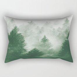 Foggy Woods III Rectangular Pillow