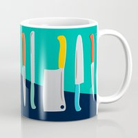 chef Mugs featuring Chef Knives by Sam Osborne
