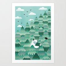 Tree Hugger (Spring & Summer version) Art Print