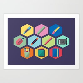 I'm a graphic designer Art Print