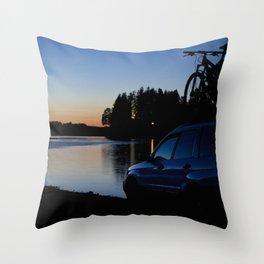 Ride Till Sunset Throw Pillow