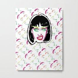 Drag Queen: Annie B. Frank On Fleek by Adam Parrow (White) Metal Print