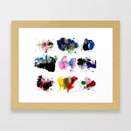 9 abstract rituals (2) Framed Art Print