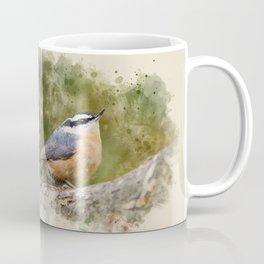 Nuthatch Watercolor Art Coffee Mug