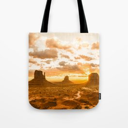 Southwest Wanderlust - Monument Valley Sunrise Nature Photography Tote Bag