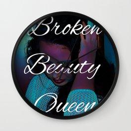 Broken Beauty Queens Wall Clock