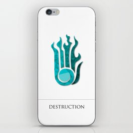 destruction iPhone Skin