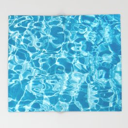 Geometric Swimming Pool - Mid Century Modern Throw Blanket