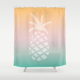 Ombre Pineapple - Tropical Pastel Shower Curtain