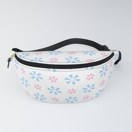 geometric flower 7 pink and blue Fanny Pack