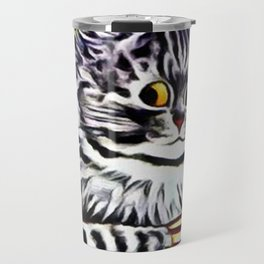 "Louis Wain's Cats ""Kitty On Coffee Break"" Travel Mug"