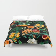 Fruit and Floral Pattern Duvet Cover