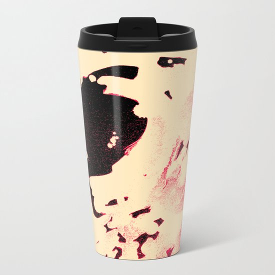 Peaches and Cream Wave for the Lovers Metal Travel Mug