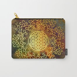 Flower Of Life (Batik 2) Carry-All Pouch