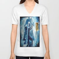 peter pan V-neck T-shirts featuring Peter Pan by ANoelleJay