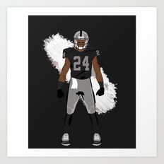 Silver and Black - Charles Woodson Art Print