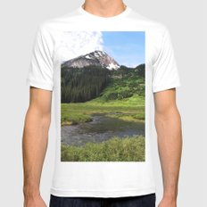 Crested Butte Mens Fitted Tee White MEDIUM