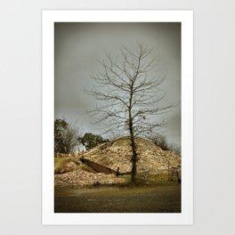 Oyster Piles Art Print