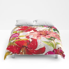 Pattern flowers and cats Comforters