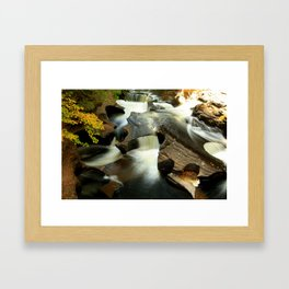 Fall from the Bridge Framed Art Print