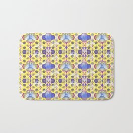 Bee Hive Psychedelic Visionary Geometric Art Print Bath Mat