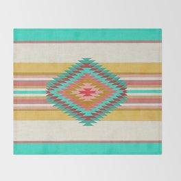 FIESTA (teal) Throw Blanket