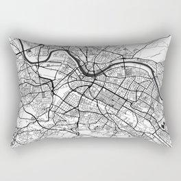 Dresden Map Gray Rectangular Pillow
