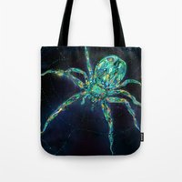 spider Tote Bags featuring Spider by shadow chen
