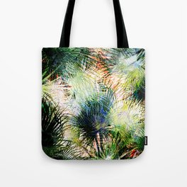 Modern palm leaves tropical abstract design Tote Bag