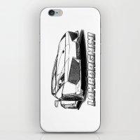 lamborghini iPhone & iPod Skins featuring Lamborghini line drawing by JT Digital Art