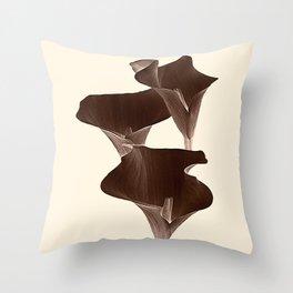 Brown Calla Lilly. Throw Pillow