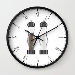 Glass Salt And Pepper Wall Clock