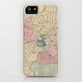 Vintage Map of Elizabeth New Jersey (1872) iPhone Case