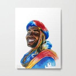 Colourful Moroccan Berber Metal Print