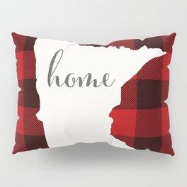 Minnesota is Home - Buffalo Check Plaid Pillow Sham