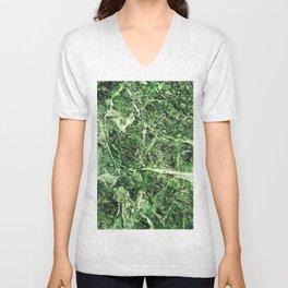 Green Marble Unisex V-Neck
