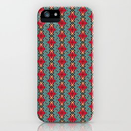 vintage colored seamless spider ornate pattern iPhone Case