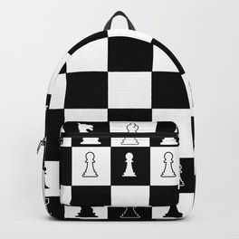 Chess Board Layout Backpack