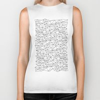 the wire Biker Tanks featuring Geometric Wire by Maiko Nagao