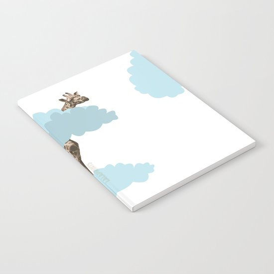Giraff in the clouds . Joy in the clouds collection Notebook