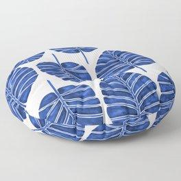 Elephant Ear Alocasia – Navy Palette Floor Pillow