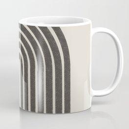 Mid Century Modern Beige and Black  Coffee Mug