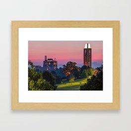 KU Campanile and The Oread Hotel - Lawrence Kansas Framed Art Print
