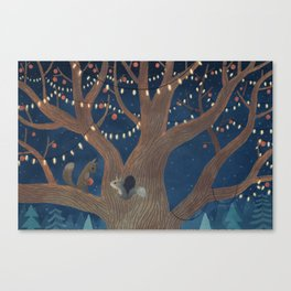 Put the lights on the tree Canvas Print