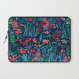 Tropical Ink - a watercolor garden Laptop Sleeve