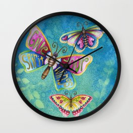 Give Your Spirit Wings  Wall Clock