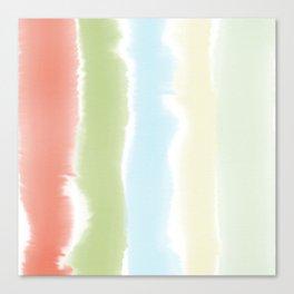 Pastel Watercolor Stripes Canvas Print